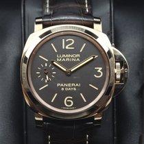 Panerai PAM00511 44mm Luminor Marina 8 Days Oro Rosso Brown...