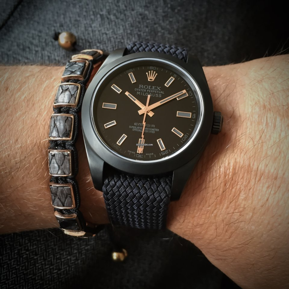 Rolex Milgauss Black And Gold Edition By Ember Concept For