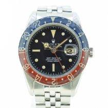 Rolex GMT-Master Steel 38mm Black No numerals