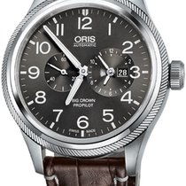 Oris Steel Automatic Grey Arabic numerals 44.7mm new Big Crown ProPilot Worldtimer
