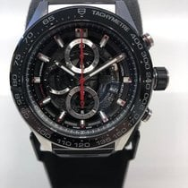 TAG Heuer Carrera Calibre HEUER 01 Stål 45mm Sort Ingen tal