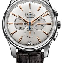 Zenith Captain Chronograph Steel 42mm Silver No numerals United States of America, Florida, Sunny Isles Beach