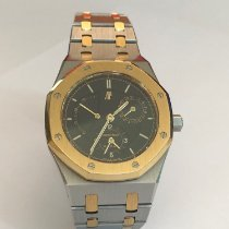 Audemars Piguet Yellow gold Automatic Black 36mm pre-owned Royal Oak Dual Time