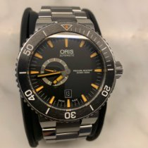 Oris Aquis Small Second pre-owned 46mm Black Date Steel
