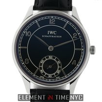 IWC Portuguese Hand-Wound Steel 44mm Black United States of America, New York, New York
