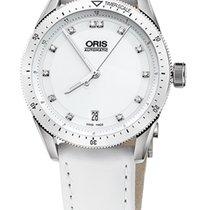 Oris Artix GT Date, Diamonds, Ceramic Top, White, Leather