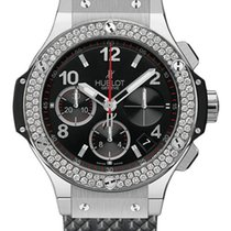Hublot Big Bang Stainless Steel Rubber Diamonds Automatic...