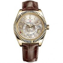 Rolex Sky-Dweller Yellow gold 42mm Silver Roman numerals United States of America, Pennsylvania, Holland