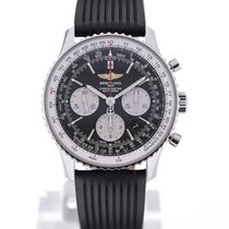 Breitling Navitimer 01 43 Black Rubber Strap Folding Clasp