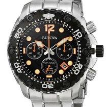 Bulova Sea King Chronograph Stainless Steel Mens Sport Watch...