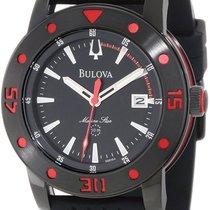 Bulova Men's Marine Star Black Dial Black Rubber Men's...