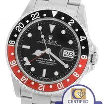 Rolex MINT 2002 Rolex GMT-Master II Coke Red Black Stainless...
