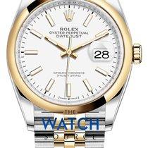 Rolex Datejust Gold/Stahl 36mm Weiß