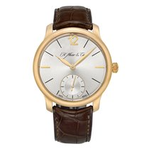 H.Moser & Cie. Yellow gold Manual winding Silver 38.8mm pre-owned Endeavour