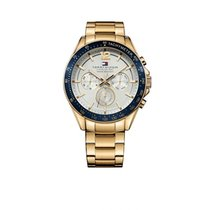 Tommy Hilfiger Gold/Steel 46mm Quartz 1791121 new