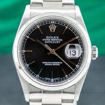 Rolex Datejust occasion 36mm Noir Date Acier