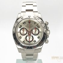 Rolex Cosmograph Daytona Weissgold Silver Dial 116509 LC100