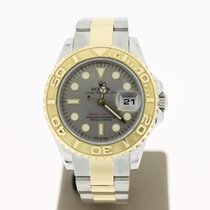 Rolex YachtMaster 29mm Steel/Gold (B&P2010) SiverDial MINT