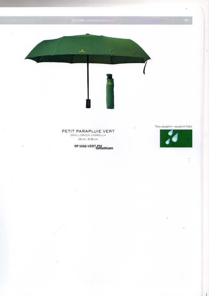 Rolex Green Umbrella