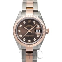 Rolex Lady-Datejust Or rose 28mm Brun