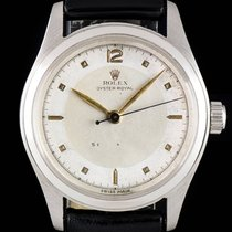 Rolex S/S Silver Dial Oyster Royal Shock Resisting Vintage 6614