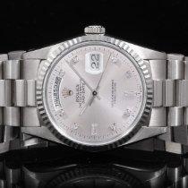 Rolex 18239 White Gold Day-Date President - Silver Diam