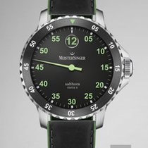 Meistersinger Acciaio 43mm Automatico SAMX902GR MeisterSinger META X SALTHORA Nero Verde 43mm nuovo Italia, VICENZA