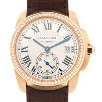 Cartier Calibre De Cartier 18 K Rose Gold With Diamonds Silver...