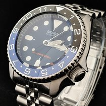 Seiko SKX009K2 mod with GMT Ceramic Insert - 007 Dual Time...
