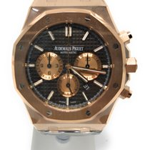 Audemars Piguet Royal Oak Chronograph Oro rosado 41mm Marrón Sin cifras