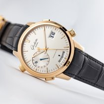 Glashütte Original Rose gold Automatic Silver (solid) Roman numerals 42mm new Senator Diary