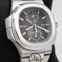 Patek Philippe Nautilus 5990-1a Travel Time 40mm Chronograph...