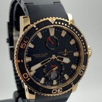 Ulysse Nardin Maxi Marine Diver pre-owned 42.7mm Yellow gold
