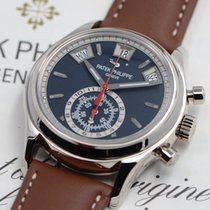 Patek Philippe Annual Calendar Chronograph White gold 40.5mm Blue No numerals