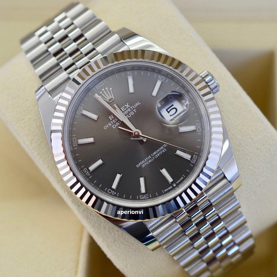 da2765ada4d0f Rolex Datejust 41 Rhodium Grey Dial 2019  NEW  for  9