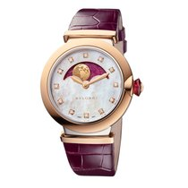 Bulgari Rose gold Automatic Mother of pearl new Lucea