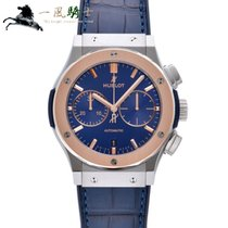 Hublot Steel Automatic Blue 45mm pre-owned Classic Fusion Blue