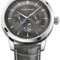 Louis Erard Stahl 42mm Quarz 14910AA03 neu