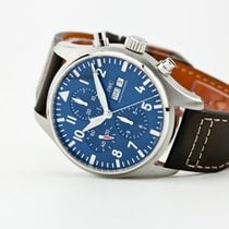 IWC Pilot Chronograph pre-owned 43mm Blue Chronograph Date Leather