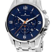 Jacques Lemans Sport Liverpool new Quartz Chronograph Watch with original box and original papers 1-1799H