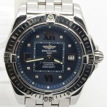 Breitling Windrider Cockpit Lady's Factory Diamond Blue Dial...