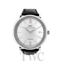 IWC Portofino Automatic Silver Steel/Leather 40mm - IW356501