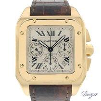 Cartier Santos 100 Chrono Yellow Gold