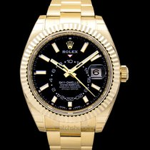 Rolex Yellow gold Automatic Black new Sky-Dweller