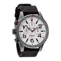 Nixon Reloj NIXON 48-20 Chrono Hombre Piel Blanco Cronógrafo