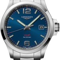 Longines Conquest Steel 43mm Blue