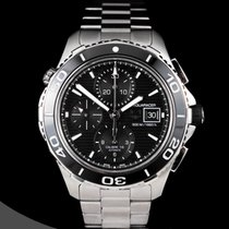 TAG Heuer Chronograph 43mm Automatic pre-owned Aquaracer 500M Black