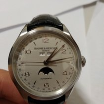 Baume & Mercier Clifton Steel 43mm Silver Arabic numerals