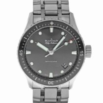 Blancpain 43mm Automatic 2016 pre-owned Fifty Fathoms Bathyscaphe Grey