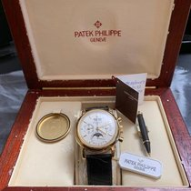 Patek Philippe Perpetual Calendar Chronograph 3970E Sehr gut Gelbgold Handaufzug